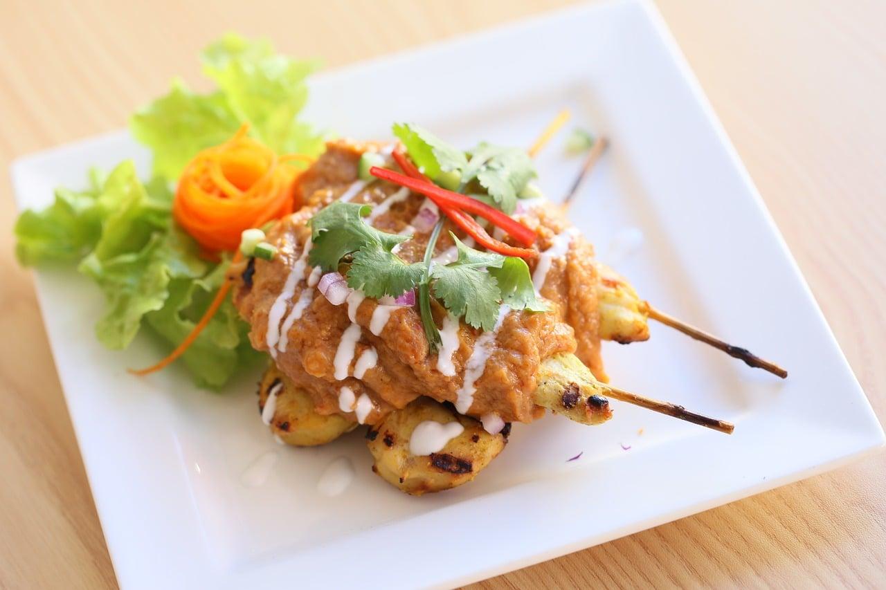 Satay Chicken Tenderloins with Asian salad