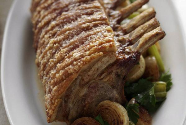 Roasted Pork Rack with Spiced Salt