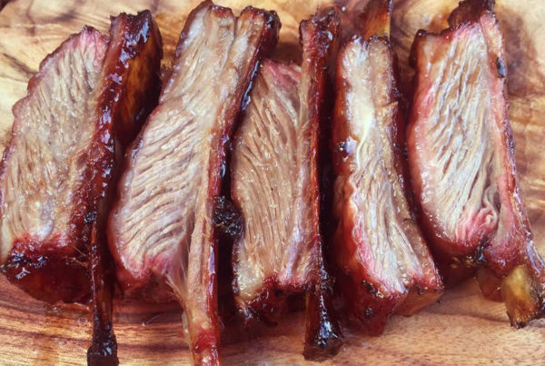 Smoked lamb ribs - juicy and delicious