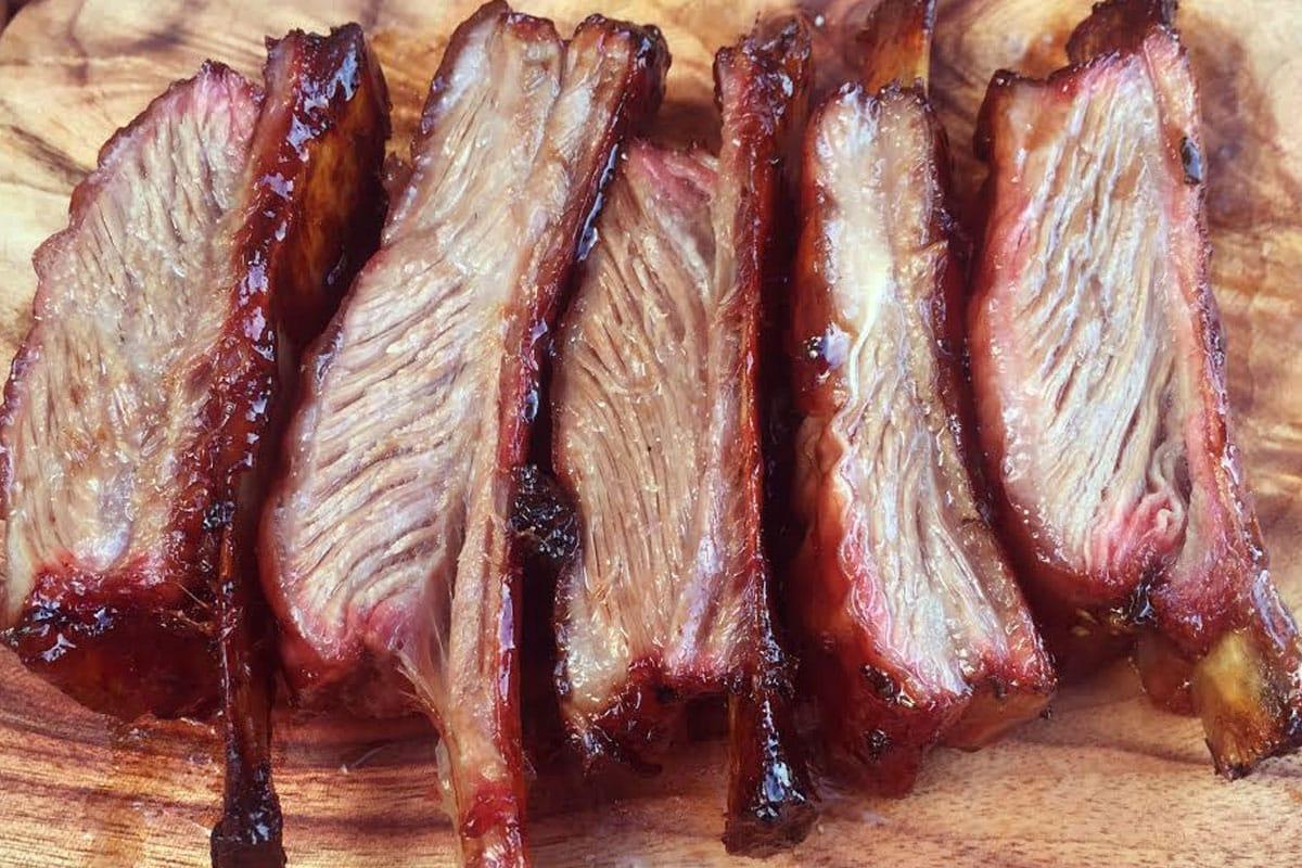 Smoked lamb ribs - juicy and delicious