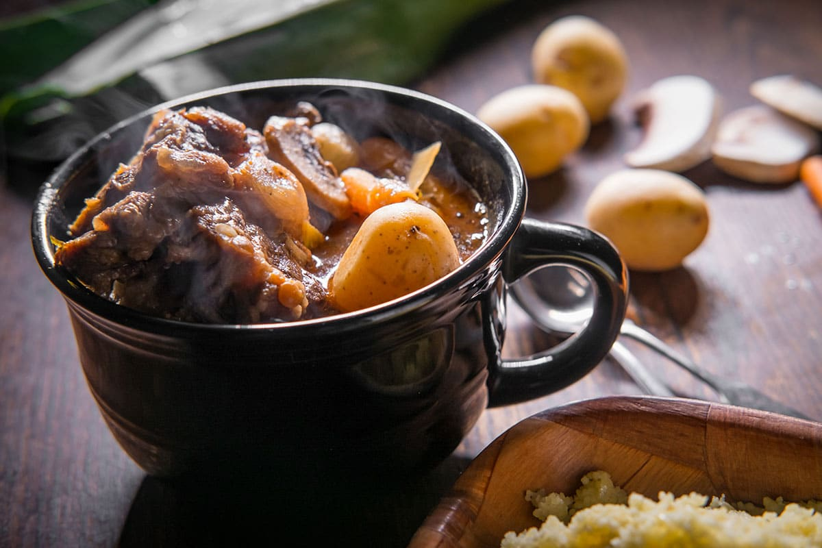 Ox Tail Stew Steaming Hot