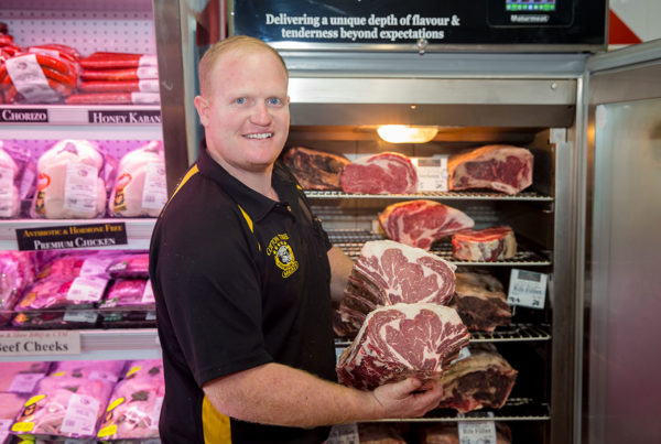 Dry Aged Steak - Luke and our dedicated dry aging cabinet