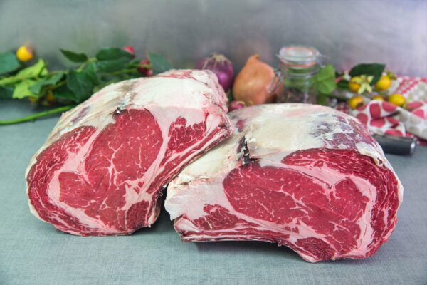 Sliced dry-aged beef